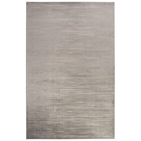 """Raya Abstract Silver/ White Area Rug (9' X 12') - 8'10"""" x 11'9"""""""