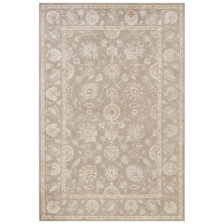 Classic Oriental  Pattern Gray Wool and Art Silk Area Rug (9' x 12')