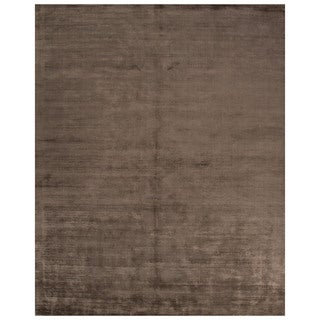 Handmade Solid Neutral Area Rug (8' X 10') (As Is Item)