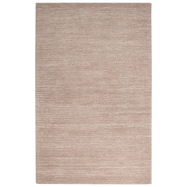 Handmade Solid Neutral Area Rug (2' x 3') - 2' x 3'