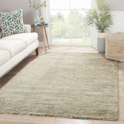 Handmade Solid Green Area Rug (2' X 3')