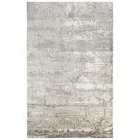 Giffard Abstract Gray Area Rug (2' X 3')