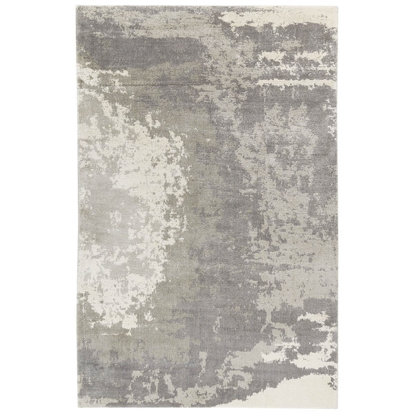 Shop Pascal Abstract Gray White Area Rug 2 X 3 Free Shipping