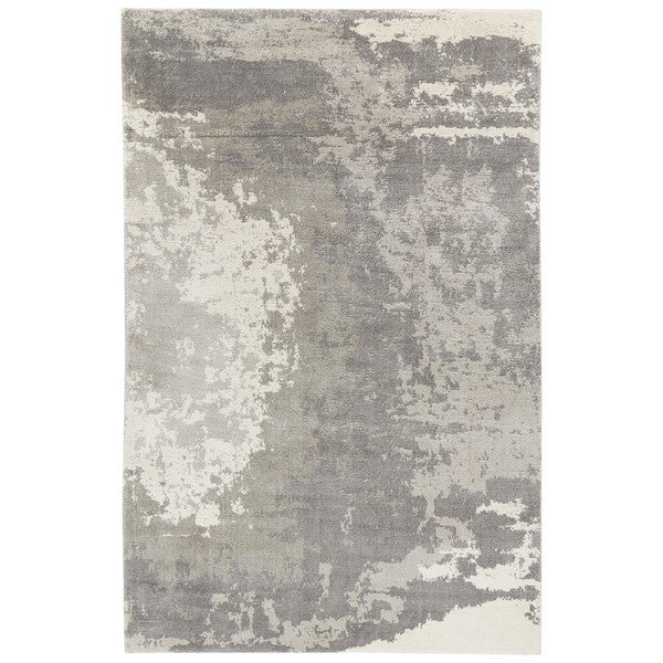Pascal Abstract Gray White Area Rug