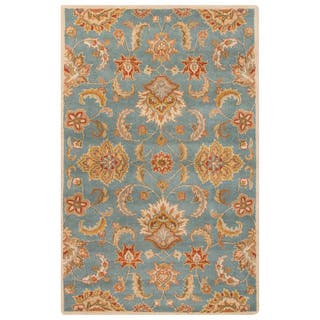 Coventry Handmade Floral Blue/ Multicolor Area Rug (4' X 8') (Option: 4' X 8')|https://ak1.ostkcdn.com/images/products/11110889/P18114144.jpg?impolicy=medium