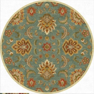Coventry Handmade Floral Blue/ Multicolor Area Rug (8' X 8')