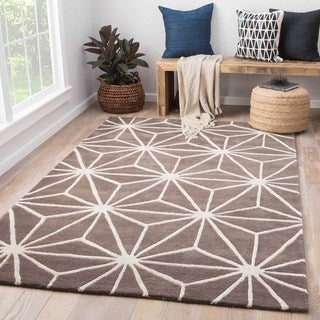 Oakland Handmade Trellis Brown/ Cream Area Rug (2' X 3')