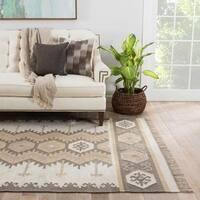 Sonoran Indoor/ Outdoor Geometric Gray/ Taupe Area Rug (2' X 3')