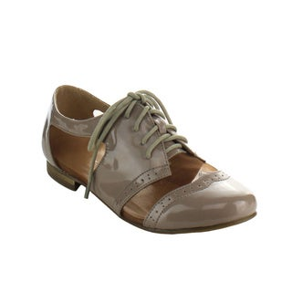 Beston AA96 Women's Lace Up Perforated Oxfords