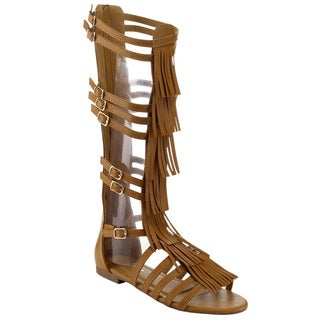 Beston GB18 Women's Fringe Sandals