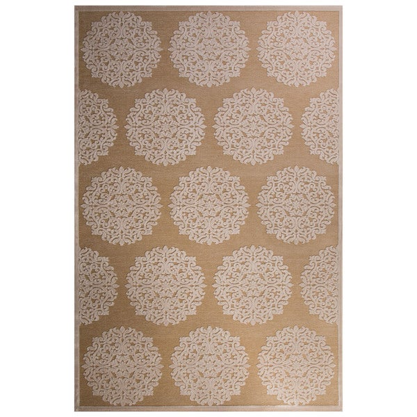 Roksana Medallion Tan/ Beige Area Rug (2' X 3')