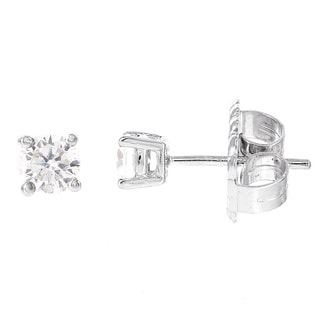 H Star Sterling Silver Diamagem Stud Earring