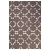 Handmade Geometric Gray/ Silver Area Rug