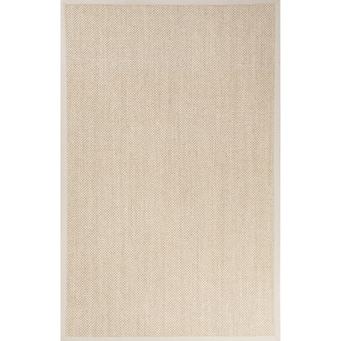 """Nalani Natural Solid Beige/ Ivory Area Rug (8' X 10') - 7'10""""x9'10"""""""