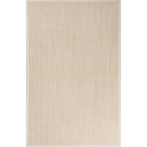 "Nalani Natural Solid Beige/ Ivory Area Rug (8' X 10') - 7'10"" x 9'10"""