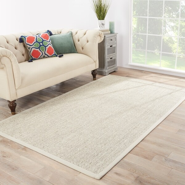 Naturals Solid Pattern Natural/Ivory Sisal Area Rug (9' X 12') by Generic