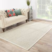 Nalani Natural Solid Beige/ Ivory Area Rug (9' X 12')