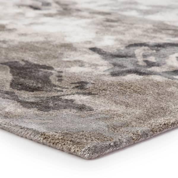 Mudra Handmade Abstract Gray Silver