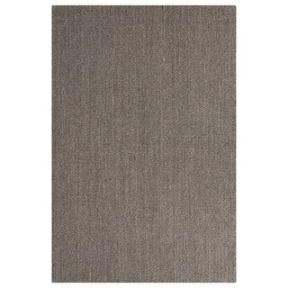 Naturals Geometric/Solid Pattern Gray Sisal Area Rug (2' x 3')