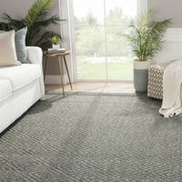 Natural Tribal Gray/ Silver Area Rug (2' X 3')