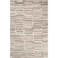 Banzai Handmade Stripe Cream/ Gray Area Rug - 2' x 3'