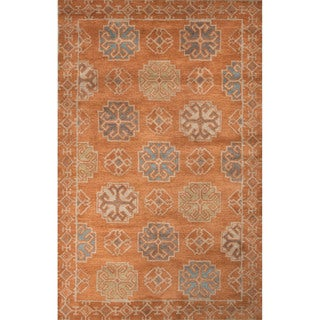 Handmade Tribal Orange Area Rug (2' X 3')
