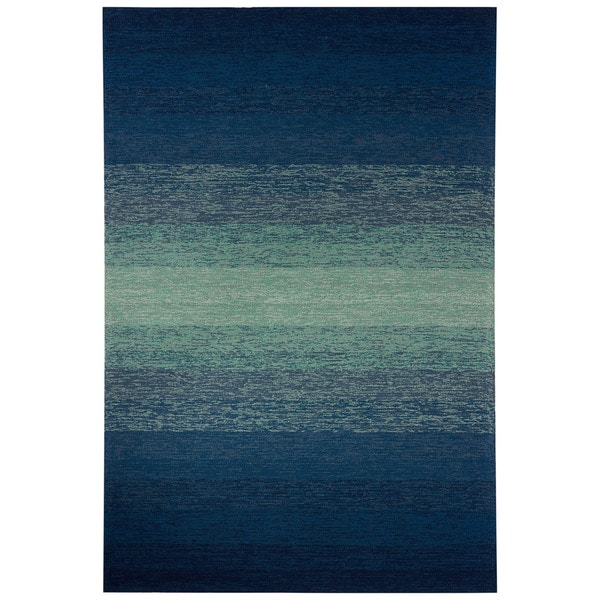 Channel Indoor/ Outdoor Ombre Blue/ Green Area Rug (2' X 3')