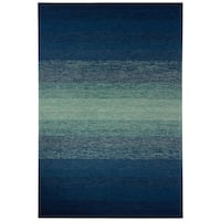 Channel Indoor/ Outdoor Ombre Blue/ Green Area Rug