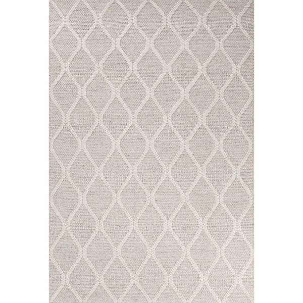 Mekhi Handmade Trellis Gray/ White Area Rug (2' X 3') - 2' x 3'