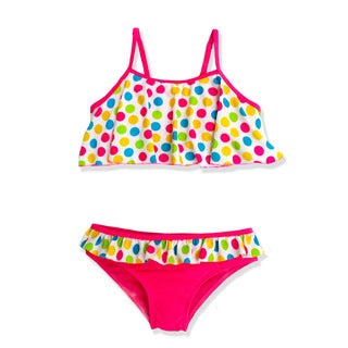 Jump'N Splash Girls' Polka Dot Party Flounce Bikini
