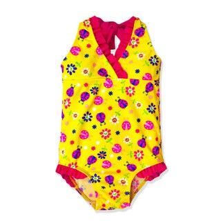 Jump'N Splash Small Girls' Yellow Ladybug Halter One Piece
