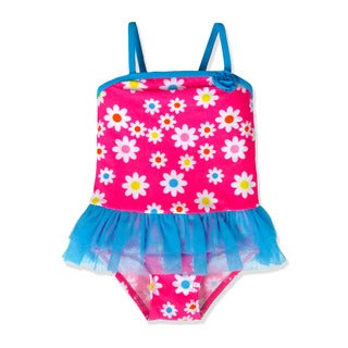 Jump'N Splash Small Girls' Pink Flower Tutu One Piece