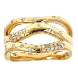 Anika and August 18k Yellow Gold 1/4ct TDW Diamond Ring (G-H, I1-I2)