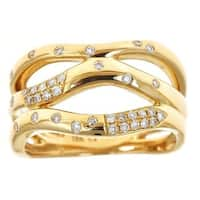 Anika and August 18k Yellow Gold 1/4ct TDW Diamond Ring