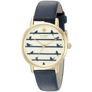 Kate Spade Women's KSW1022 'Metro' Little Birds Blue Leather Watch