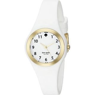 Kate Spade Women's 1YRU0793 'Rumsey' White Silicone Watch