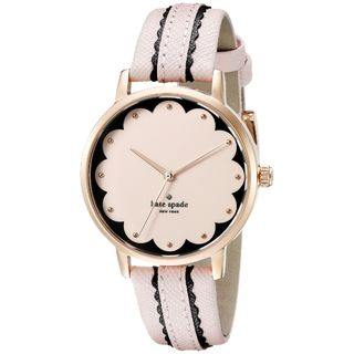 Kate Spade Women's KSW1003 'Scallop Metro' Pink Leather Watch