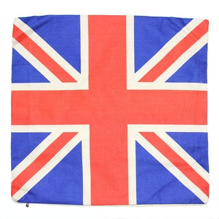 June Lily 18-inch Union Jack Cotton Linen Throw Pillow Cover