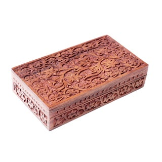 Handmade Indian Garden Jewelry Box (India)
