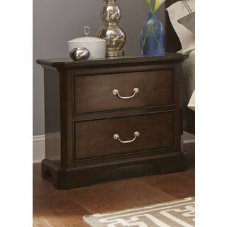 Avington Dark Cognac 2-Drawer Nightstand