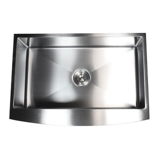 33-inch 15mm Curved Front Farm Apron Stainless Steel Single Bowl Kitchen Sink