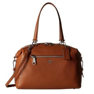 Coach Prairie Saddle Pebble Leather Satchel Handbag|https://ak1.ostkcdn.com/images/products/11111710/P18114712.jpg?impolicy=medium