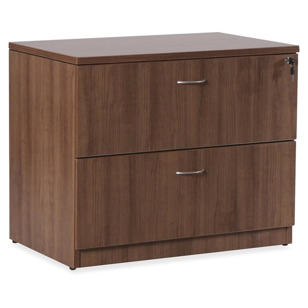 Lorell Essentials Series Walnut Lateral File