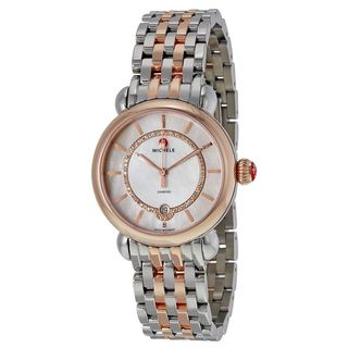 Michele Women's MWW03T000066 'CSX 36' Diamond Two-Tone Stainless Steel Watch