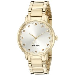 Kate Spade Women's KSW1047 'Scallop Metro' Crystal Gold-Tone Stainless Steel Watch