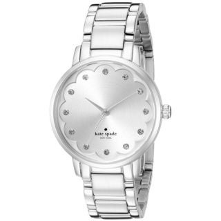 Kate Spade Women's KSW1046 'Scallop Metro' Crystal Stainless Steel Watch