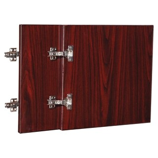 Lorell Essentials Series 36-inch Mahogany Wall Hutch Door Kit