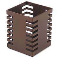 Lorell Brown Stamped Metal Square Pencil Cup (1 Each)