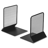 Lorell Black Mesh Bookends (Set of 2)