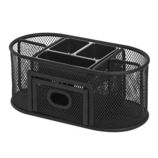 Shop Lorell Black Steel Mesh Desktop Organizer Free